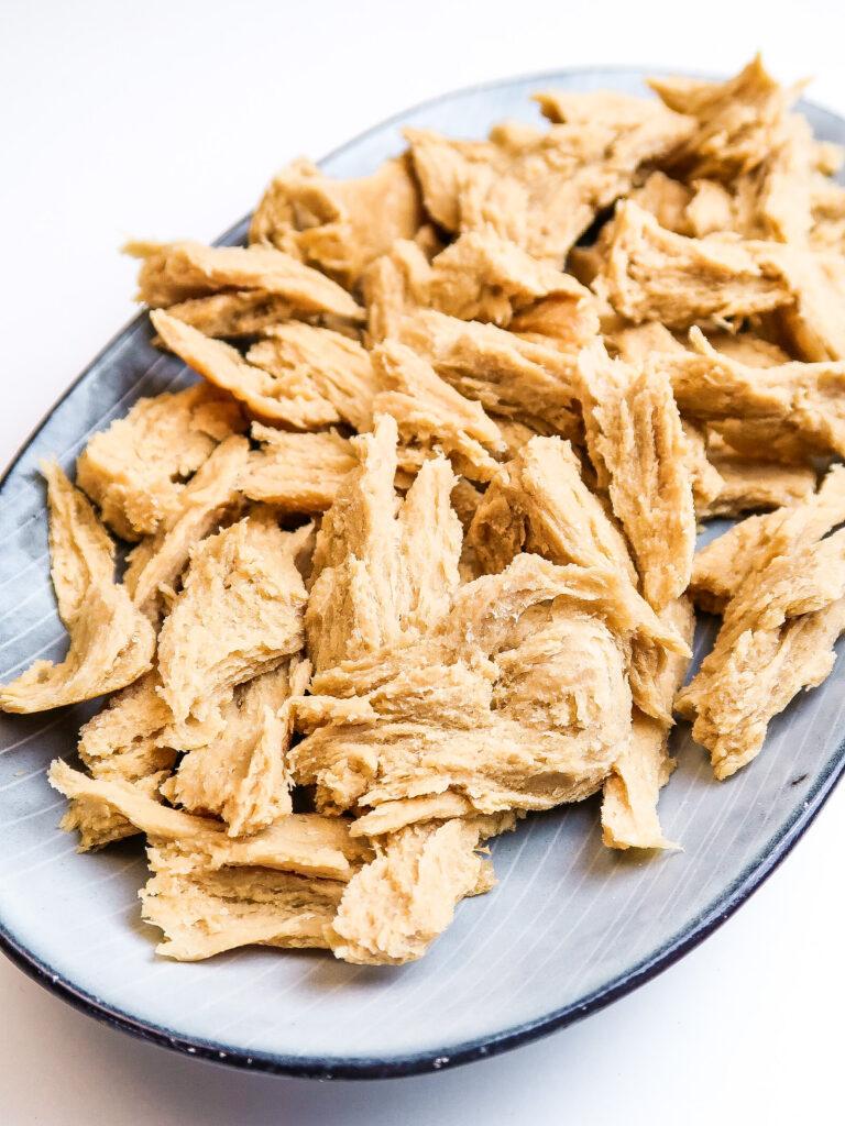 easy-vegan-seitan-chicken-shredded